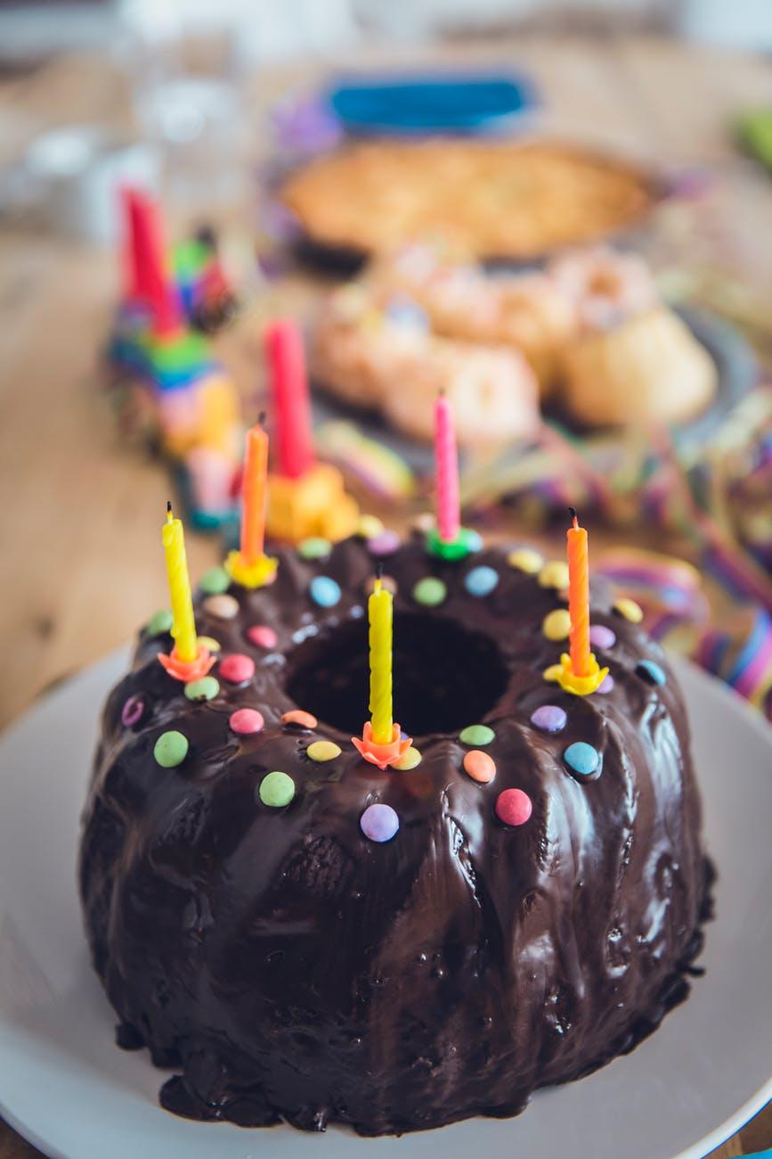baked birthday birthday cake blowing